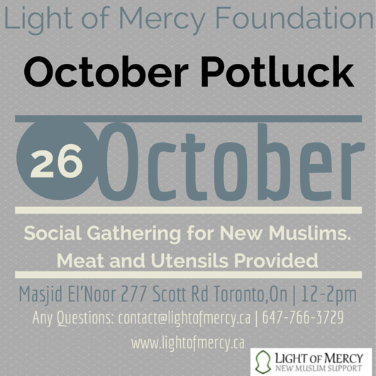 Join us for our monthly  luncheon in support of New Muslims and their families
